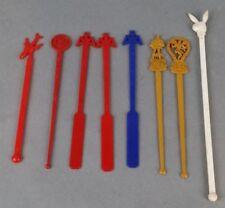 8pc Vintage Stir Swizzle Airlines Plastic Collectable Stirring Sticks Playboy