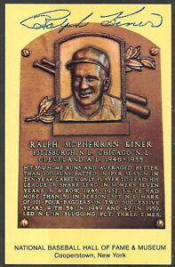 Ralph Kiner Autograph on HOF Plaque