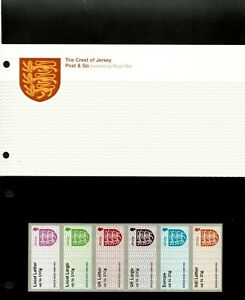 Jersey 2016 - The Crest of Jersey - Post & Go Presentation Pack - 6 Stamps - MNH
