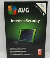 AVG Internet Security 2019 3 PCs 1 Year - Brand New and Sealed