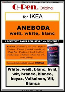 1000mL Lackstift für IKEA ANEBODA weiß
