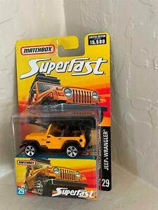 Matchbox Jeep Wrangler #29 Superfast Limited Edition 1 of 15,500   Z11