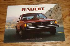Original 1984 Volkswagen VW Rabbit Sales Brochure 84