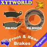 FRONT REAR Brake Pads Shoes for Honda CRF 230 2004-2009