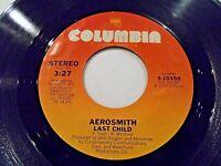 Aerosmith Last Child / Combination 45 1976 Columbia Vinyl Record