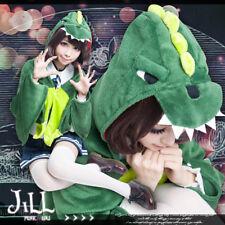 japan cosplay kawaii dino dinosaur coral fleece parka cape blanket【J3A2006】