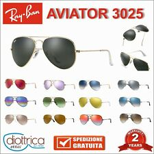 Occhiale da sole RayBan Aviator 3025 RB sunglasses uomo 58 mm occhiali ray ban