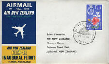 AVIATION :1965 AIR NEW ZEALAND . First Flight -Nandi - Auckland