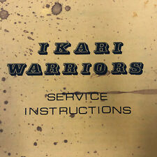 Tradewest Ikari Warriors Arcade Game Service Instructions Manual & Schematics