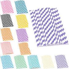 réutilisable solide papier rayures Pailles pour boire maison