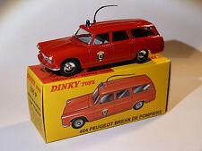 Peugeot 404 break de Pompiers - ref 525 P au 1/43 de dinky toys atlas