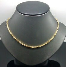 "32"" Long Men's 10K Yellow Gold Franco Chain 3mm Width and 15gm"