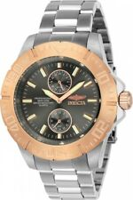 8f06d528c1e16 Nieuwe aanbieding New Mens Invicta 23641 Pro Diver Charcoal Dial Steel  Bracelet Watch