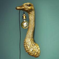 Wandleuchte Vogel Strauß gold messing Leuchte Lampe Deko Wandlampe midcentury