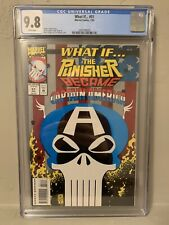 Marvel What If #51 The Punisher Became Captain America?  CGC 9.8 NM/M