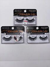 New Ardell Double Up Black #204 False Eyelashes Sealed Lot Of 3