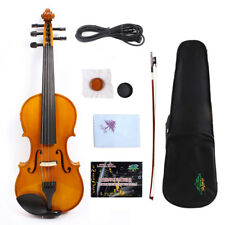 Yinfente Violin 5 string Electric Violin 4/4 Maple Spruce Hand Made Bow+Case