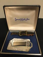 Vintage Samuel Kirk & Son Sterling Silver Luggage tag - New in Box