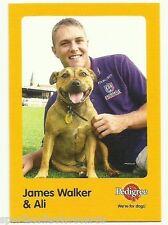 2005 AFL FREMANTLE JAMES WALKER AND ALI AUSKICK PEDIGREE CARD