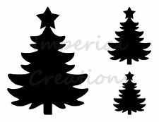 """""""CHRISTMAS TREE"""" With Star Traditional 8.5"""" x 11"""" Stencil Plastic Sheet NEW S40"""