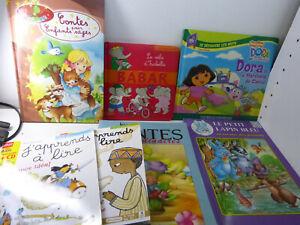 lot de livres pour enfants ,contes , dora ,babar , (cp07)