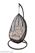 Hängesessel braun inkl. Kissen Hanging Chair Terrasse Garten Wintergarten NEU