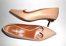 "Women's & And Other Stories Kitten Heels Blush Pink Art Deco Heels 2"" Size 39"