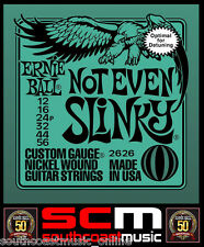 ERNIE BALL NOT EVEN SLINKY ELECTRIC GUITAR STRINGS 12-56 PERFECT FOR DOWNTUNING