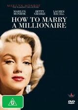 HOW TO MARRY A MILLIONAIRE DVD=MARILYN MONROE=REGION 4 AUSTRALIA=NEW AND SEALED