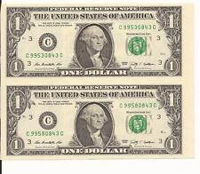 UNCUT SHEET  $1 X 2 Legal USA $1 DOLLAR-Real Currency Note/Rare Money GIFT MONEY