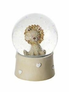 Mousehouse Lion Musical Snow Globe Gift for Baby Boy or Girl