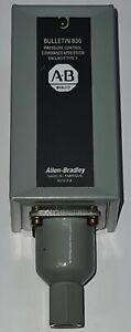 ALLEN-BRADLEY BULLETIN 836 PRESSURE CONTROL AIR PRESSURE SWITCH