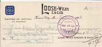 U.S. LOOSE-WILES C. & C.CO. Kansas City, Mo. 1904 Headed Paid Invoice Ref 44336