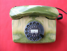 Sehr schönes Post Telefon, Wellscheibe Telefon grün marmoriert , Nostalgie