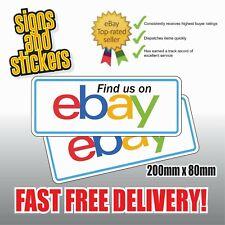"""2 Aufkleber """"finden uns"""" auf eBay Social Network Business Shop Medien Werbung"""