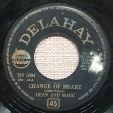 RARE 45t 7'' DEAN AND MARC CHANGE OF HEART HOLL BELGIUM PRESS ROCK ROLL 195? BE+