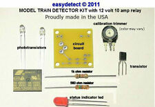 N SCALE MODEL TRAIN DETECTOR KIT with 12 volt relay FOR CROSSING  ACTIVATION