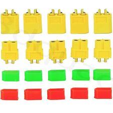 10 trozo xt60 alta electricidad oro conector +10x tapas de protección para xt60 Plug Lipo batería de