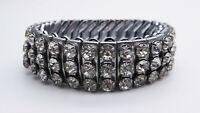 Vintage C1950s Sonata Empire Stretch Diamante Bracelet Cuff