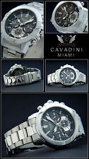 Modern Men's/Chronograph Miami Pure Luxury Grey/Black Designer Piece