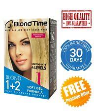 HAIR BLEACHING GEL BLOND TIME 1+2 PROFESSIONAL BLEACH LIGHTENER UP TO 4 TONES