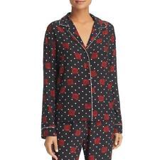 Three Dots Womens Floral Polka Dot Pajama Button-Down Top Shirt BHFO 5848
