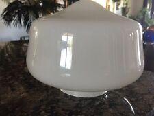 Mid Century VINTAGE WHITE MILK GLASS GLOBE CEILING PORCH SCHOOLHOUSE