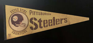 Vintage 1975 Pittsburgh Steelers Super Bowl X Champions Pennant
