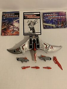 Transformers G1 Dinobot SWOOP Complete w/paper 1985 AUTHENTIC Vintage Takara
