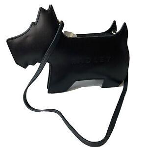 Radley Dog Bag Shoulder Strap Small Black Leather Bag