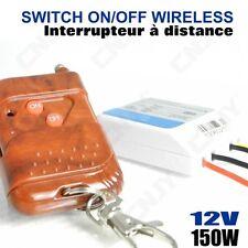 INTERRUPTEUR AVEC TELECOMMANDE A DISTANCE 12V ALLUMAGE EXTINCTION 150W ON/OFF