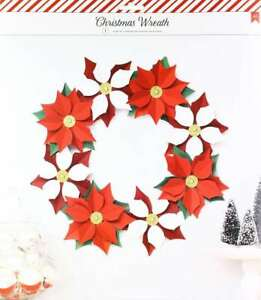 American Crafts 378475 Poinsettia Paper Wreath Kit