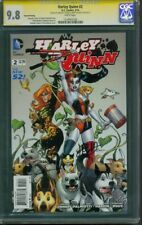 Harley Quinn 2 CGC SS 2X 9.8 2nd Print Conner Palmotti Suicide Squad sequel 2014