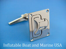 "Boat Hatch Turning Lock Lift Ring Handle Latch- 3 1/8"" - Marine Stainless Steel"